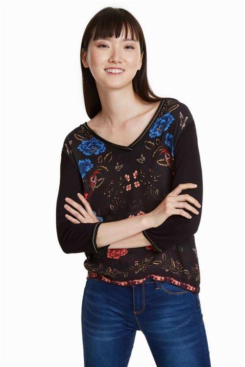 tričko Desigual Granada negro