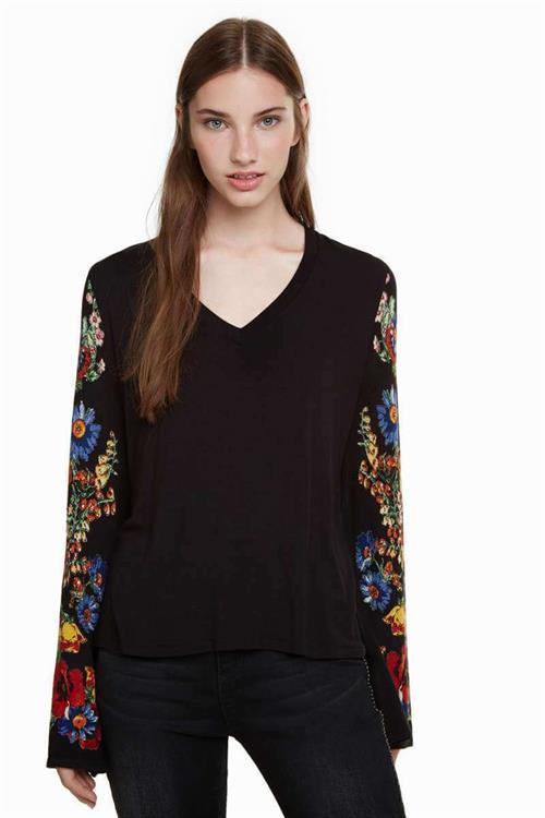 tričko Desigual Claudina negro