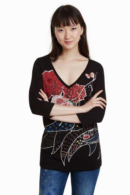 tričko Desigual Keppary negro