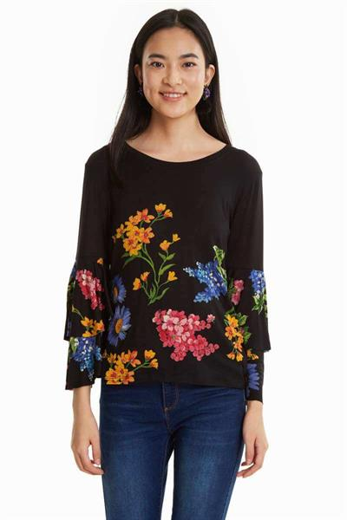 tričko Desigual Flavia negro