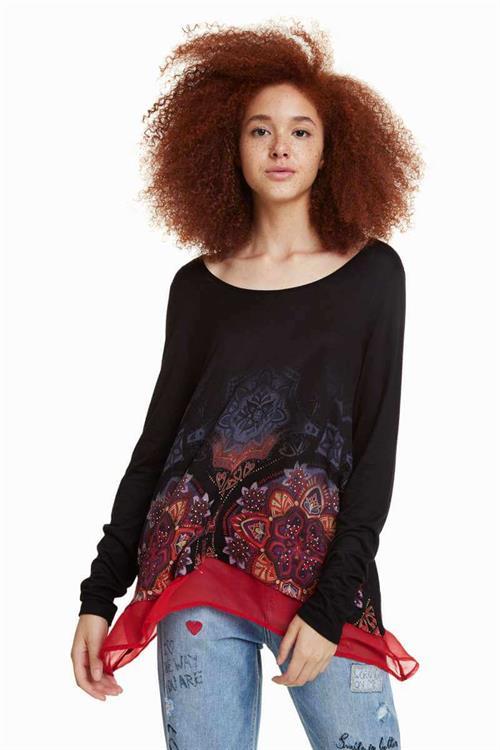 tričko Desigual Olga negro