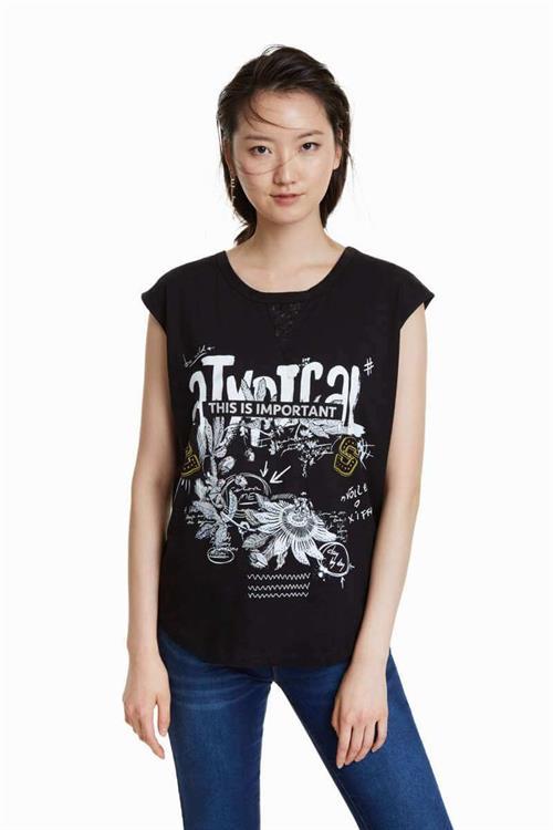 tričko Desigual Atypical negro