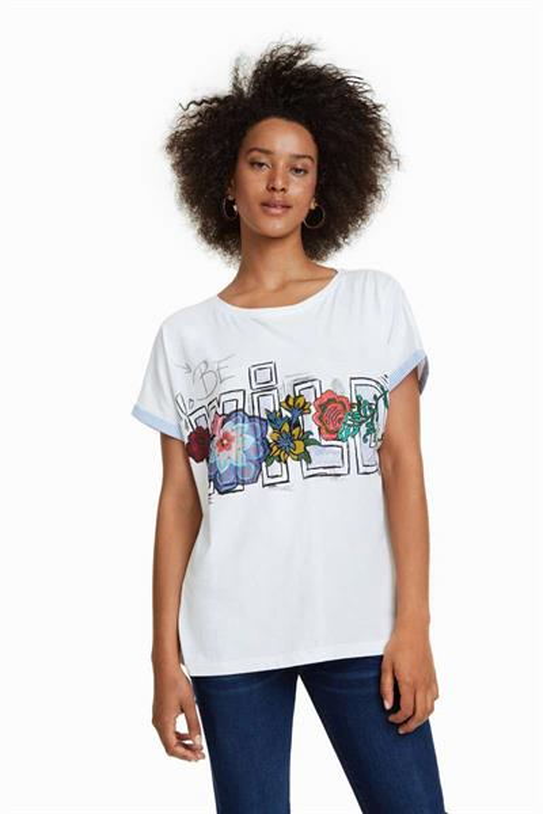 tričko Desigual Be Wild crudo