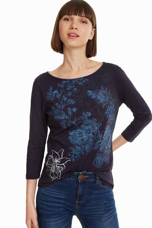 tričko Desigual Luka navy