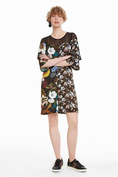 šaty Desigual Morgana kaki oscuro