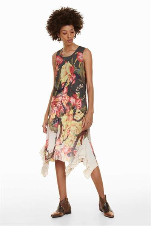 šaty Desigual Adriana verde oliva