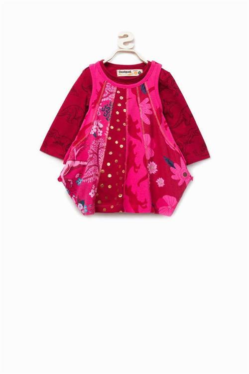 šaty Desigual Haizea fuchsia rose