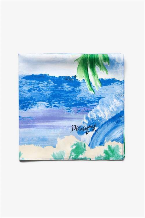 šatka Desigual Landscape Ocean azul agua