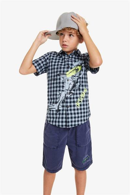 košeľa Desigual Radish navy