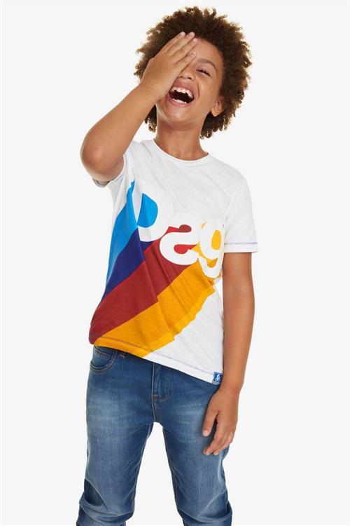 tričko Desigual David blanco