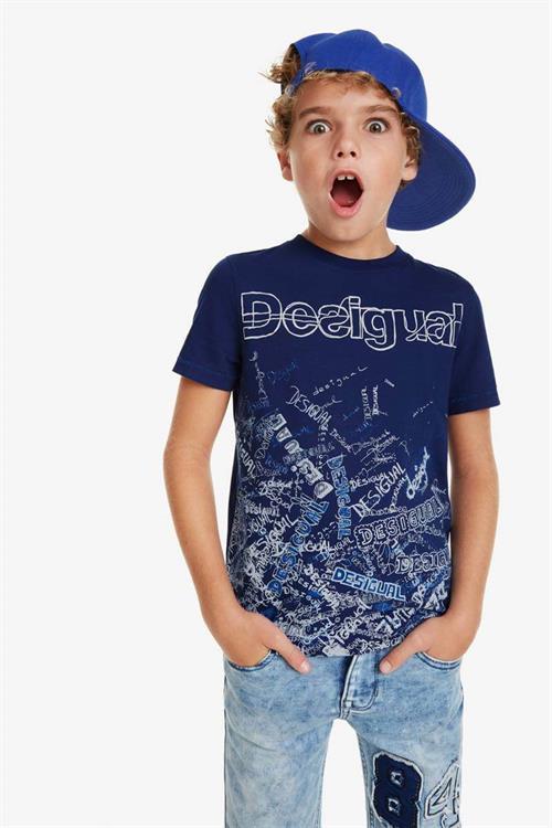 tričko Desigual Lirio navy