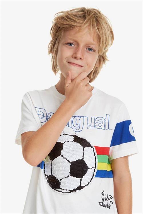tričko Desigual Joseba blanco