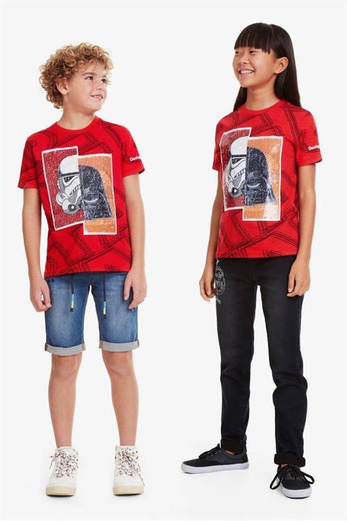 tričko Desigual Four carmin