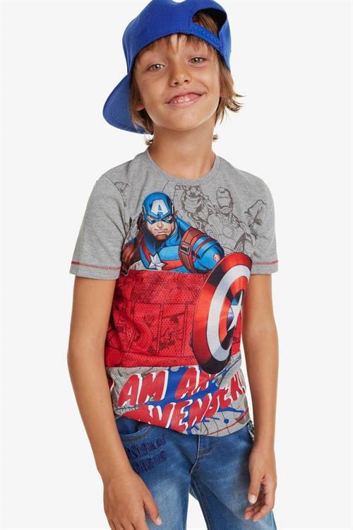tričko Desigual Captain gris vigore claro