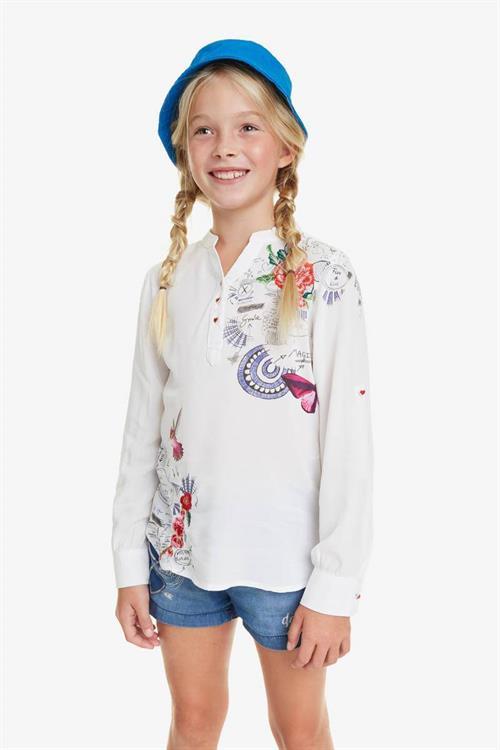 košile Desigual Braco blanco