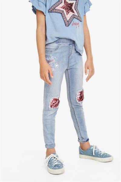 nohavice Desigual Perez denim light wash