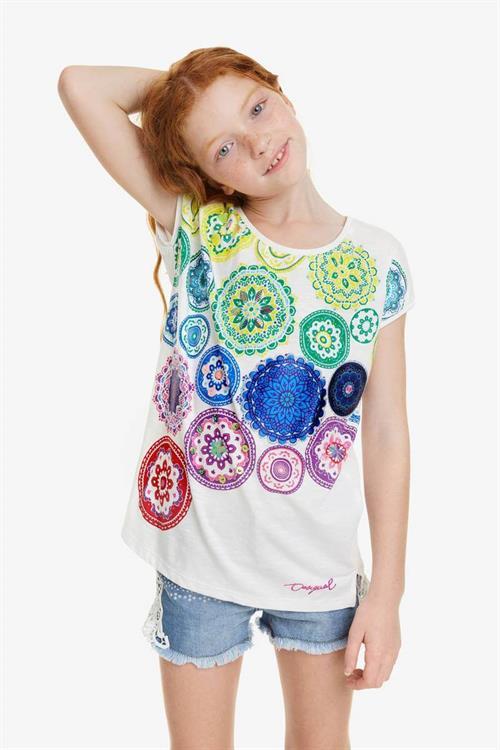 tričko Desigual Carolina blanco
