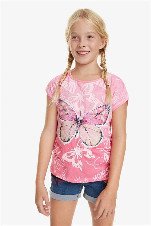 tričko Desigual Juneau rosa carnal