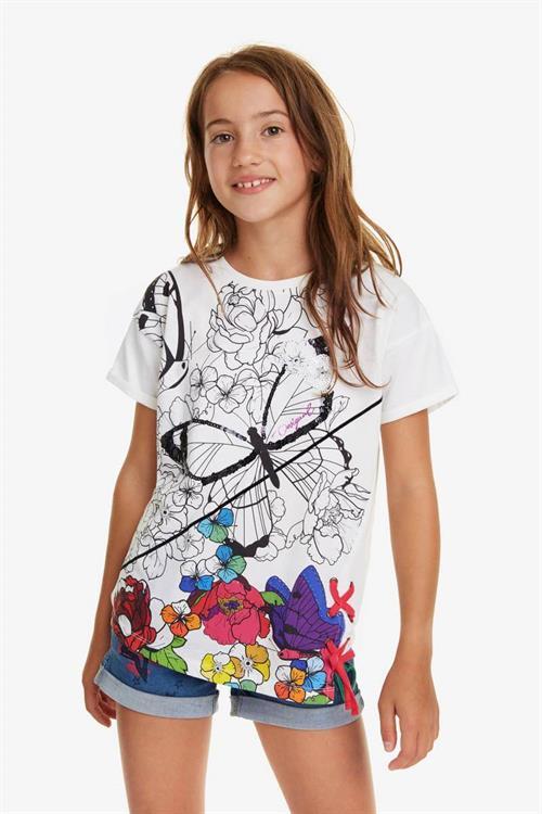 tričko Desigual Bismark blanco