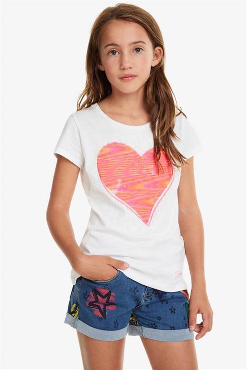 tričko Desigual Dover blanco