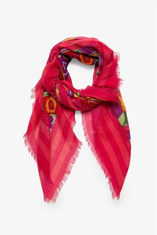 šátek Desigual Nispero fuchsia rose