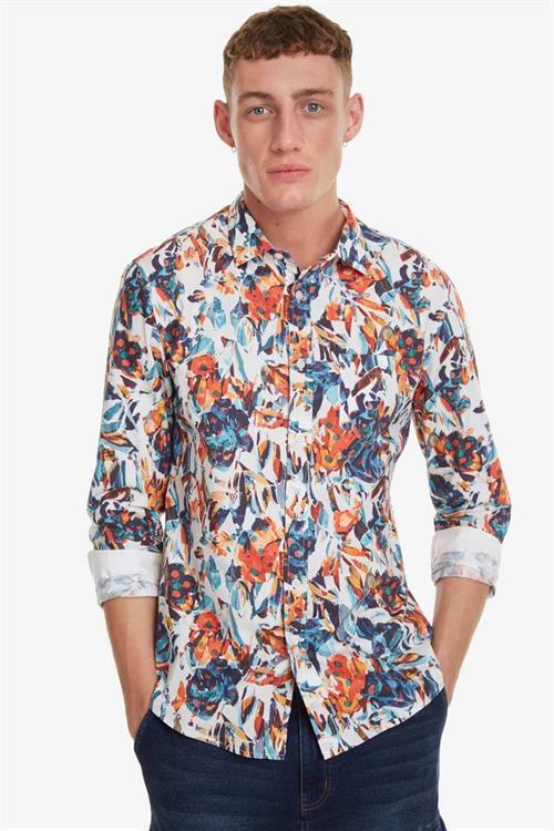 košeľa Desigual Asher blanco
