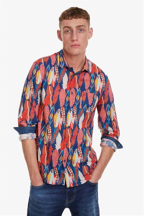 košeľa Desigual Atwood azul artico