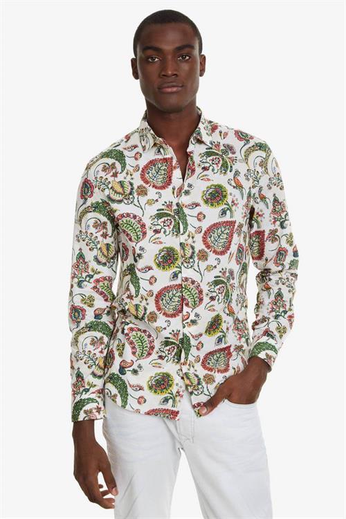 košeľa Desigual Axel blanco