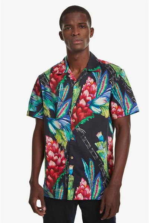 košile Desigual Darragh negro