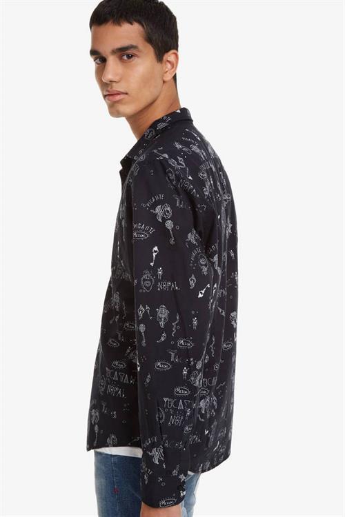 košile Desigual Ehud negro