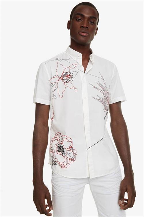 košile Desigual Ewan blanco