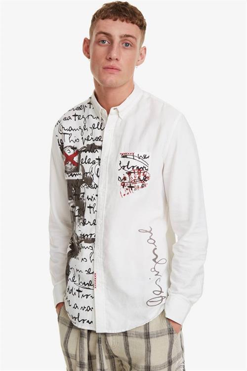 košile Desigual Expec blanco