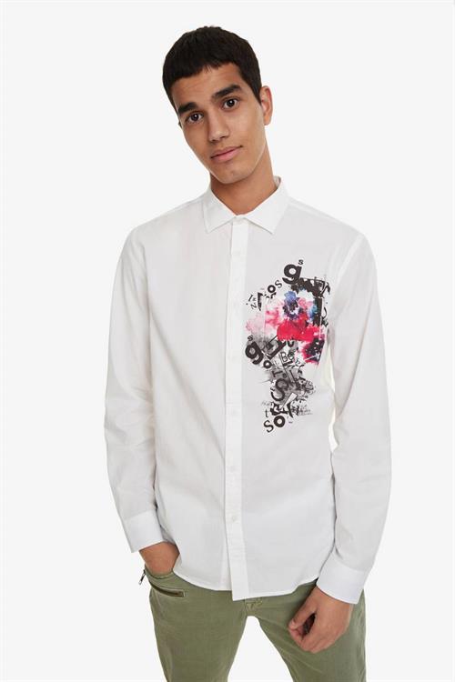 košile Desigual Eusebio blanco