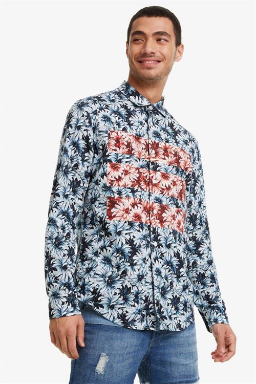 košile Desigual Emilio navy