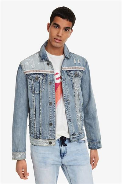 bunda Desigual Angelo denim medium wash