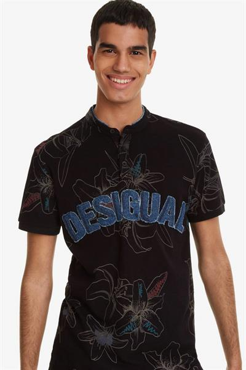 tričko Desigual Alban negro