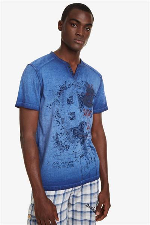 tričko Desigual Eckard twilight blue