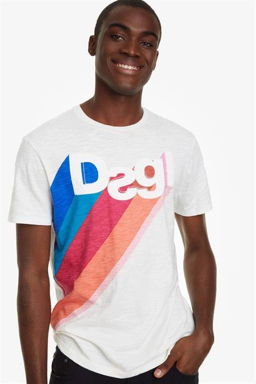 tričko Desigual Claudio blanco