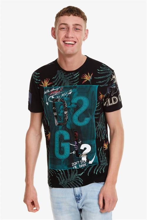 tričko Desigual Cold negro