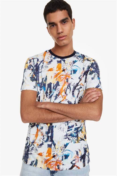 tričko Desigual Arnau blanco