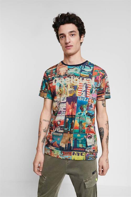 tričko Desigual Erenesto navy