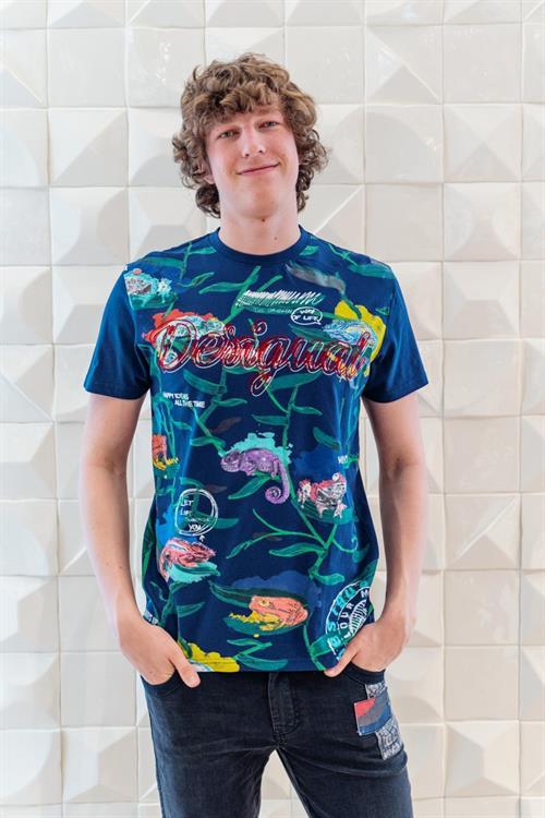 tričko Desigual Simon navy