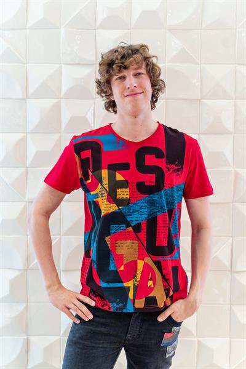 tričko Desigual Kurt fresa