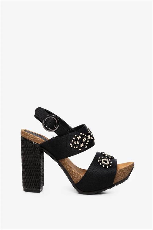 sandále Desigual Carioca Beads negro