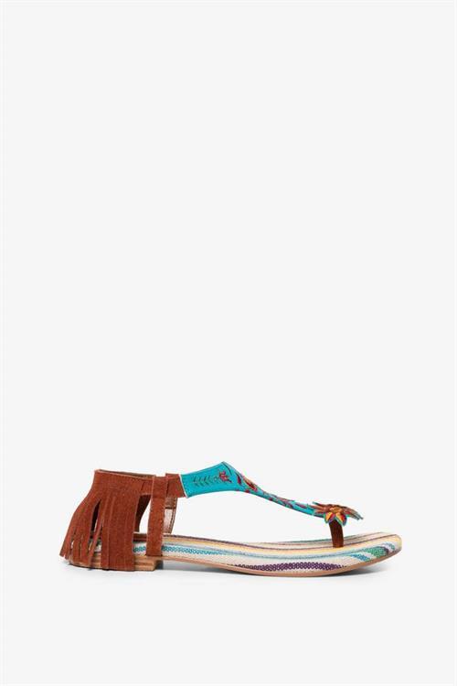 sandále Desigual Lupita Mexico blanco