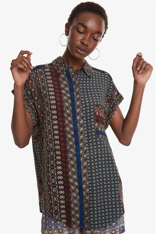 košile Desigual Azhar chocolate