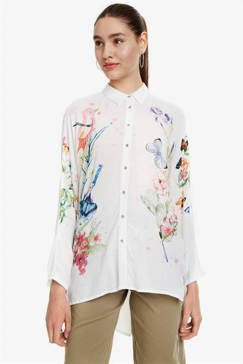košile Desigual Patrice blanco