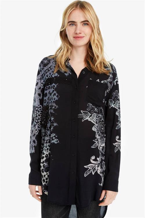 košile Desigual Amandine negro