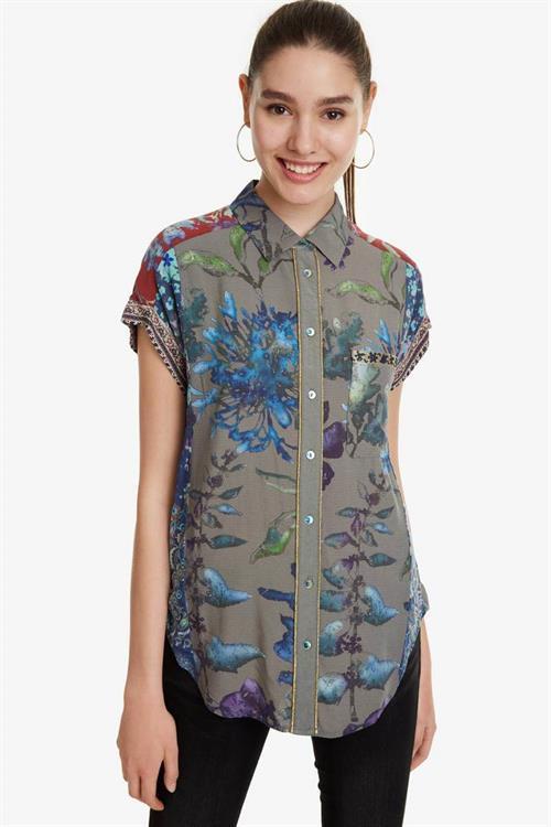 košile Desigual Naiara musgo