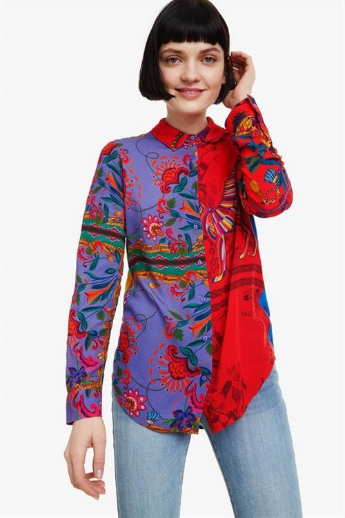 košile Desigual Nayeli carmin